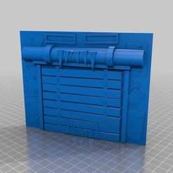 Download free STL file Big Mek Ork Garage Door terrain, KarnageKing