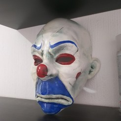Download 3D printer files Clown Mask Dark Knight Cosplay Halloween Helmet STL File, alankevin