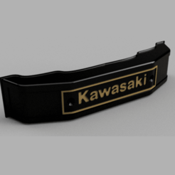 Kawasaki Emblem.png Download STL file Kawasaki Front Fork Emblem • 3D print design, tarev