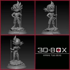 GOKUCHIBOX2.jpg Download STL file GOKU CHIBI • 3D printable template, johnnyandresparrales