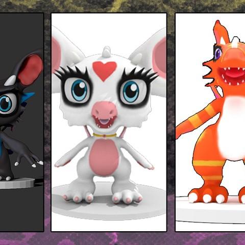 Free 3D printer files My Mascotte Dragons, xeratdragons