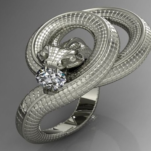 13ddcd8012e35ca2ffd0a0ef211fdf0b_preview_featured.jpg Download free STL file snake ring • Template to 3D print, cmassot12