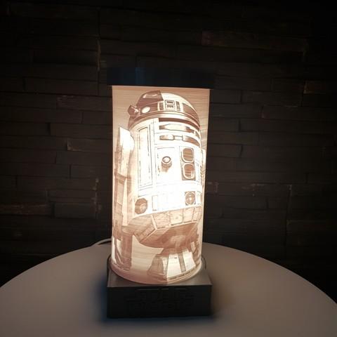 STL files R2D2 LAMP - STAR WARS, SINAX3D