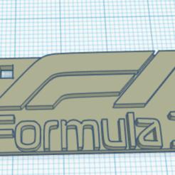 Descargar diseños 3D Formula 1 Keychain, ProfeTony