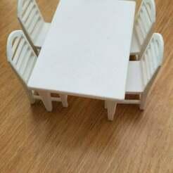 20200711_181338[1.jpg Télécharger fichier STL gratuit Table et chaises de maison de poupée • Objet à imprimer en 3D, martinnohr76