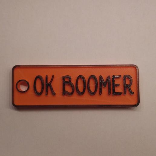 Download 3D printer designs OKBOOMER Keyring, ArthurZak