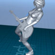 Download free STL file pretty woman with a guitar • 3D printing design, 1001thing3d