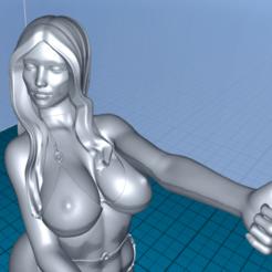 Download free 3D printer designs beautiful girl, 1001thing3d