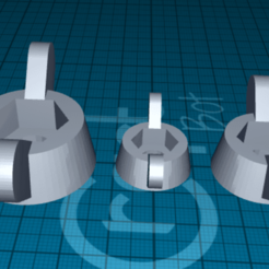 Download free 3D printing templates handle for nut, 1001thing3d