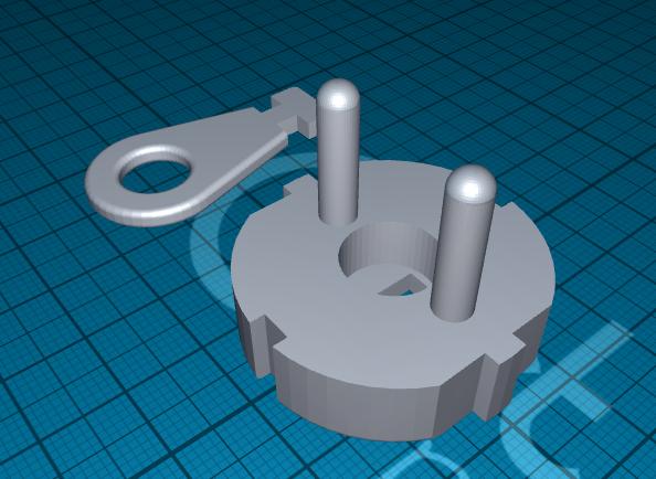 2020-06-20_12-58-30.png Télécharger fichier STL gratuit fiche pour prise de courant avec clé • Design à imprimer en 3D, 1001thing3d