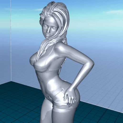 2020-06-22_07-12-51.png Télécharger fichier STL gratuit jolie femme en short • Modèle pour impression 3D, 1001thing3d