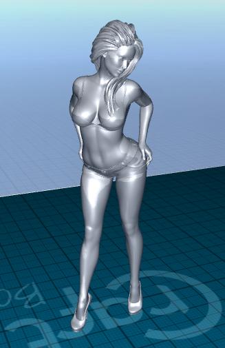 2020-06-22_07-11-34.png Télécharger fichier STL gratuit jolie femme en short • Modèle pour impression 3D, 1001thing3d