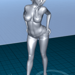2020-06-22_07-11-34.png Download free STL file pretty woman in shorts • 3D printing template, 1001thing3d