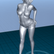 Download free STL file pretty woman in shorts • 3D printing template, 1001thing3d