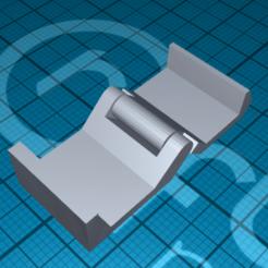 Télécharger fichier imprimante 3D gratuit clip pour câble, 1001thing3d