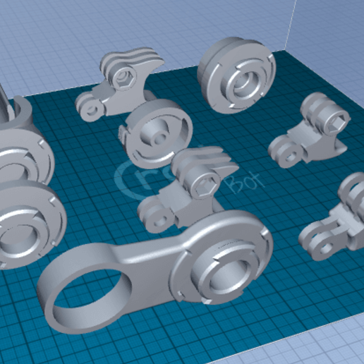 Download free 3D printing designs Action Camera Universal Mount set, 1001thing3d