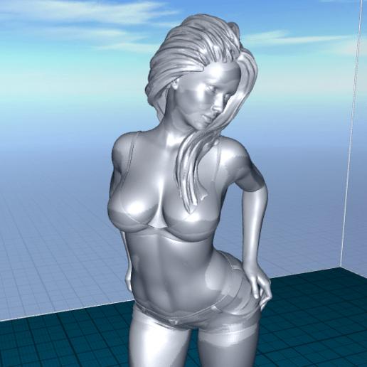 2020-06-22_07-13-09.png Télécharger fichier STL gratuit jolie femme en short • Modèle pour impression 3D, 1001thing3d
