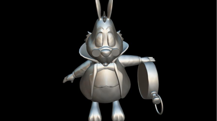 Screenshot_2019-09-09 Conejo Blanco - Download Free 3D model by MundoFriki3D ( MundoFriki3D)(4).png Download free OBJ file Alicia White Rabbit • 3D printing template, MundoFriki3D