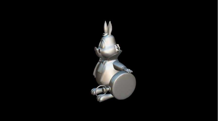 Screenshot_2019-09-09 Conejo Blanco - Download Free 3D model by MundoFriki3D ( MundoFriki3D)(1).png Download free OBJ file Alicia White Rabbit • 3D printing template, MundoFriki3D