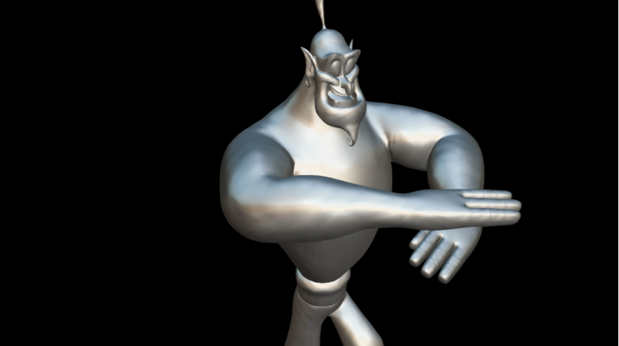 Screenshot_2019-09-09 Genio - 3D model by MundoFriki3D ( MundoFriki3D)(4).png Télécharger fichier OBJ gratuit Le génie Aladin • Plan pour imprimante 3D, MundoFriki3D