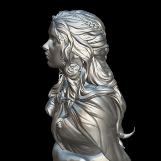 Screenshot_2019-09-09 Busto Daenerys - Download Free 3D model by MundoFriki3D ( MundoFriki3D)(5).png Download free STL file Daenerys Bust • 3D printable template, MundoFriki3D