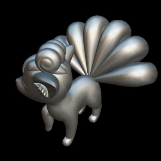 Screenshot_2019-09-09 Vulpix - Download Free 3D model by MundoFriki3D ( MundoFriki3D)(4).png Download free STL file Pokémon Vulpix • 3D printing template, MundoFriki3D