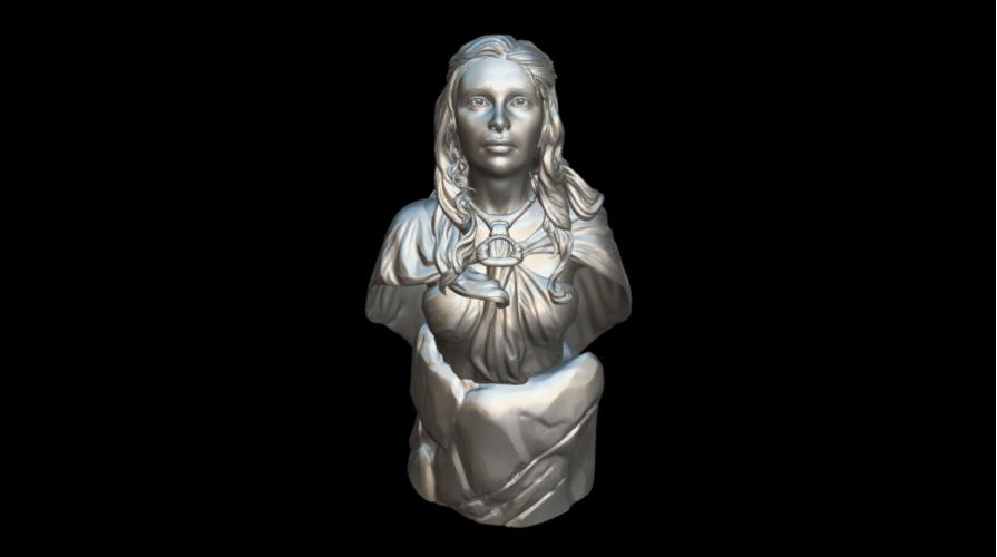 Screenshot_2019-09-09 Busto Daenerys - Download Free 3D model by MundoFriki3D ( MundoFriki3D).png Download free STL file Daenerys Bust • 3D printable template, MundoFriki3D