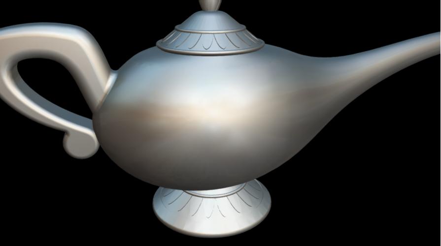 Screenshot_2019-09-09 Lampara Aladdin - 3D model by MundoFriki3D ( MundoFriki3D)(4).png Download free OBJ file Lamp Genius Aladdin • 3D printing model, MundoFriki3D