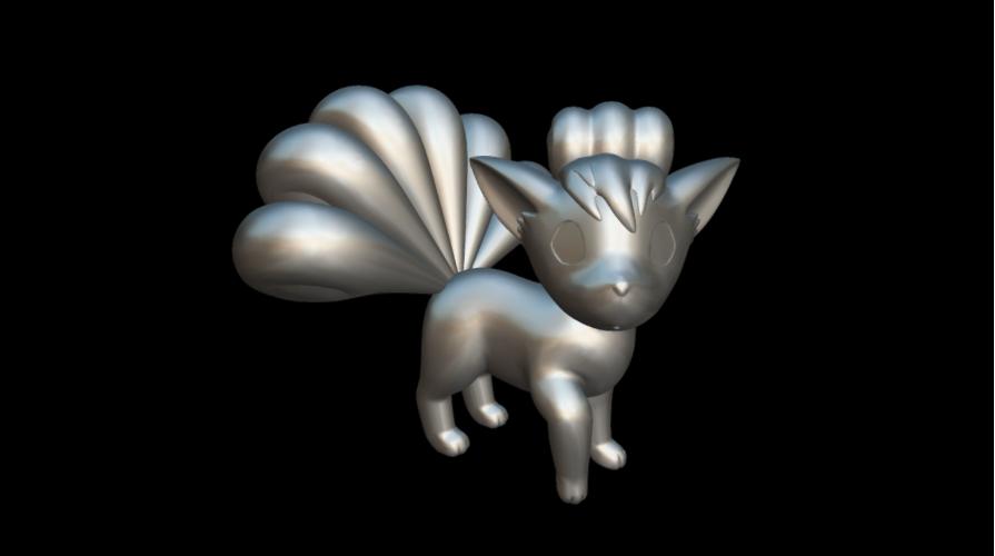 Screenshot_2019-09-09 Vulpix - Download Free 3D model by MundoFriki3D ( MundoFriki3D)(3).png Download free STL file Pokémon Vulpix • 3D printing template, MundoFriki3D