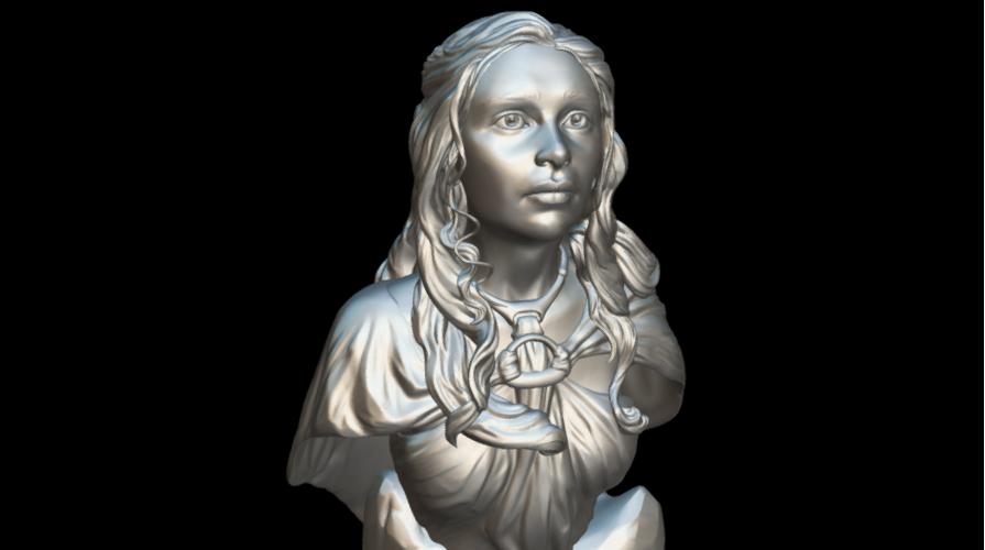 Screenshot_2019-09-09 Busto Daenerys - Download Free 3D model by MundoFriki3D ( MundoFriki3D)(4).png Download free STL file Daenerys Bust • 3D printable template, MundoFriki3D