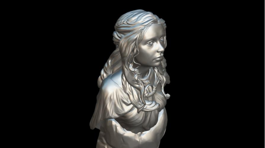 Screenshot_2019-09-09 Busto Daenerys - Download Free 3D model by MundoFriki3D ( MundoFriki3D)(7).png Download free STL file Daenerys Bust • 3D printable template, MundoFriki3D