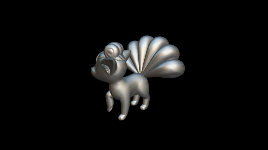 Screenshot_2019-09-09 Vulpix - Download Free 3D model by MundoFriki3D ( MundoFriki3D)(1).png Download free STL file Pokémon Vulpix • 3D printing template, MundoFriki3D