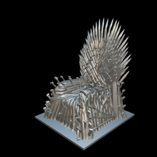 Screenshot_2019-09-09 Trono de hierro - Download Free 3D model by MundoFriki3D ( MundoFriki3D)(1).png Download free STL file Iron Throne • Model to 3D print, MundoFriki3D
