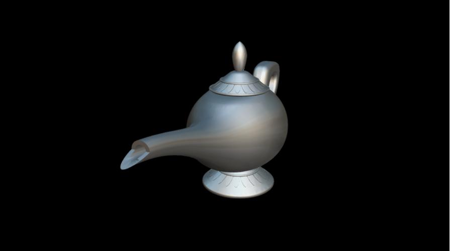 Screenshot_2019-09-09 Lampara Aladdin - 3D model by MundoFriki3D ( MundoFriki3D)(1).png Download free OBJ file Lamp Genius Aladdin • 3D printing model, MundoFriki3D