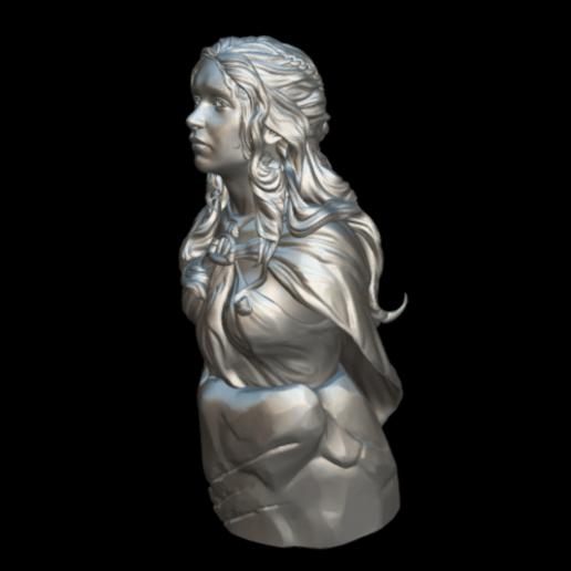 Screenshot_2019-09-09 Busto Daenerys - Download Free 3D model by MundoFriki3D ( MundoFriki3D)(1).png Download free STL file Daenerys Bust • 3D printable template, MundoFriki3D