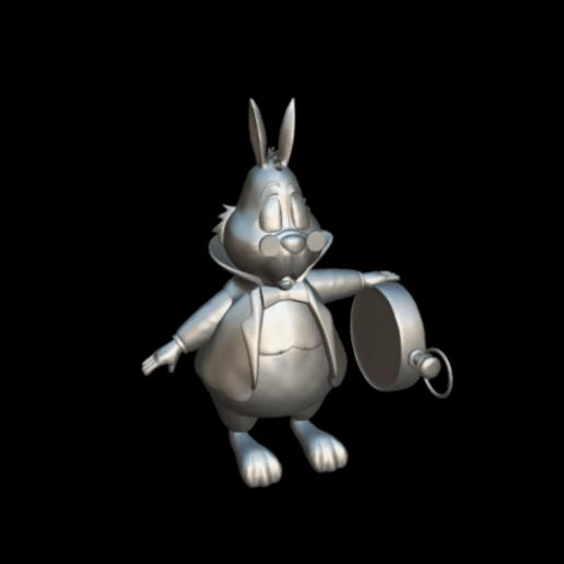 Screenshot_2019-09-09 Conejo Blanco - Download Free 3D model by MundoFriki3D ( MundoFriki3D).png Download free OBJ file Alicia White Rabbit • 3D printing template, MundoFriki3D