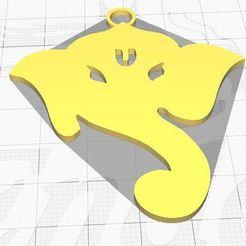Capture.JPG Télécharger fichier STL gratuit PORTE-CLÉS GANESHA • Objet pour impression 3D, 3dprintvala