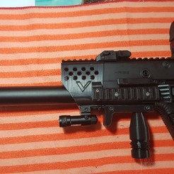 Download 3D printing designs Kriss Vector Handguard with side rails, stevesamui