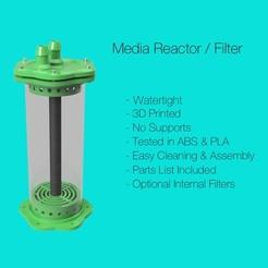 Descargar Modelos 3D para imprimir gratis Filtro de acuario / Reactor de medios v2, fox-hamachi