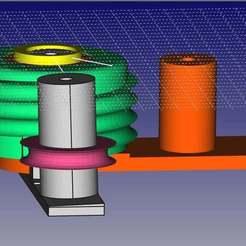 pulley1.jpg Télécharger fichier STL gratuit Bobineuse, pour enrouler des tubes en cuivre de 10 mm • Objet imprimable en 3D, robsnave