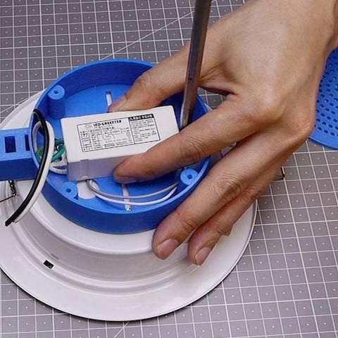 """0b4012638f0a42ee59adb9d51b83f056_display_large.jpg Télécharger fichier STL gratuit Plafonnier 6"""" Montage de la caméra lumineuse au plafond • Plan pour impression 3D, fmtuve"""