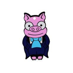 cerdito 2.png Download free STL file PIGGY CAKE DOLL - THE SIMPSONS - KEY RING • 3D printable model, Gnuswis