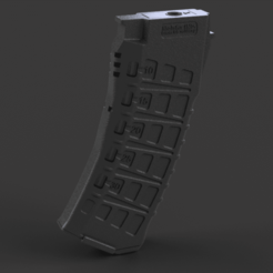 ak12_mid_cap_v30.png Download free STL file AK 120 rounds airsoft magazine (midcap). / Механа для ак на 120 шаров • Design to 3D print, Igniz