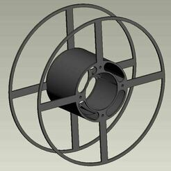 thing.JPG Download free STL file The most economical spool for rolls of 400meters. • 3D printing object, Igniz