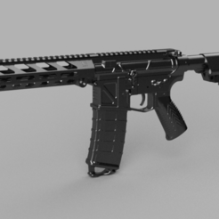 Download free 3D printer files Printable Airsoft AR15 (PAAR15) AEG Body kit, Igniz