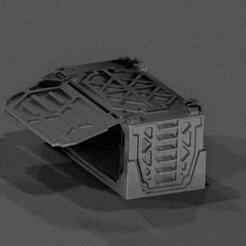 crate1.jpg Télécharger fichier STL gratuit 50x50x100 Caisse pour les produits de table. Avec portes à charnières ! • Modèle pour impression 3D, Igniz