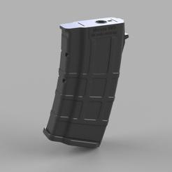 20 round midcap 1 v19.png Télécharger fichier STL Airsoft AK short 120bbs midcap magazine • Plan pour impression 3D, Igniz