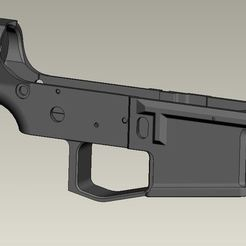 Download 3D print files Blank lower for PAAR15 (airsoft ar15 body kit), Igniz