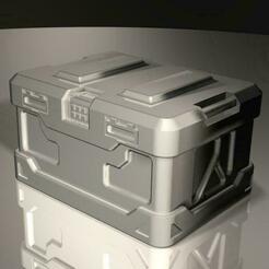 crate2.jpg Télécharger fichier STL gratuit Caisse de couverture n°1 pour les produits de table. Versions fermée et en cercueil. • Modèle à imprimer en 3D, Igniz