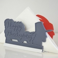 Descargar Modelos 3D para imprimir gratis ACCIÓN DE GRACIAS - FELIZ SERVILLETERO DE ACCIÓN DE GRACIAS, Glamarune